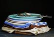 Retro tableware and napkins