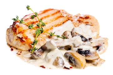 Pork escalope with mushrooms