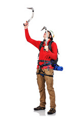 hiker with ice axe