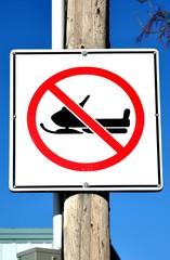 No snowmobiling signage