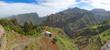 Panoramic view of island of Santo Antao, Cape Verde