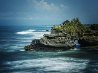 The Tanah Lot indu temple of Bali