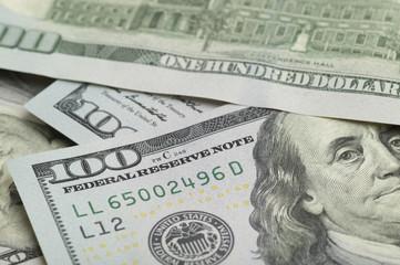 Several sheets of dollar bills