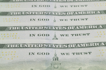 The back of the hundred dollar bill