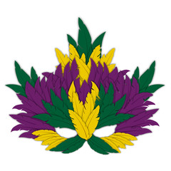 Mardi Gras Mask isolated