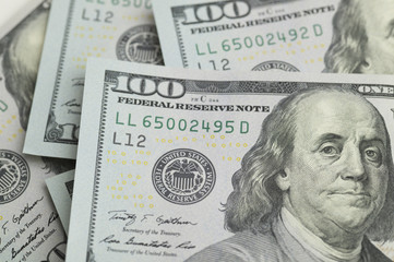 A lot of hundred dollar bills