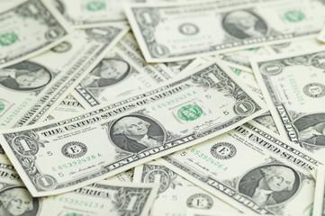 Full of one dollar bills