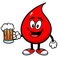 Blood Drop with Beer