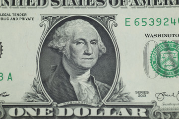 George Washington printed by a US dollar