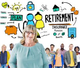 Diversity Casual People Retirement Leadership Team Concept