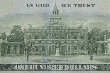 The independent memorial park printed by a US dollar