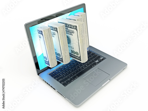 Laptop money © lchumpitaz