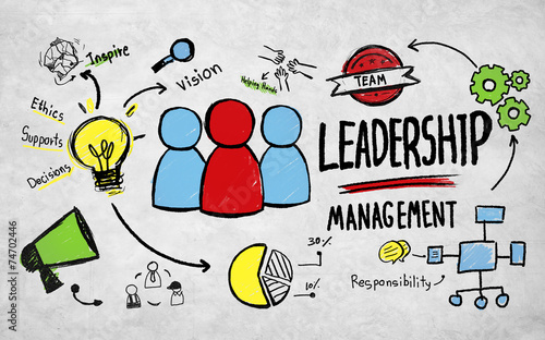 Leinwanddruck Bild Business Leadership Management Vision Professional Concept
