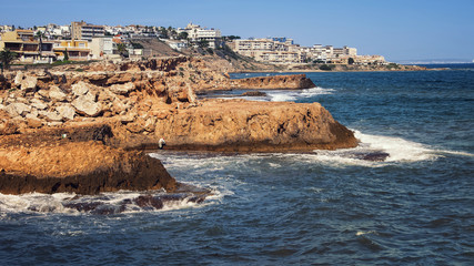 Coastline of summer resort Torrevieja in Alicante, Spain