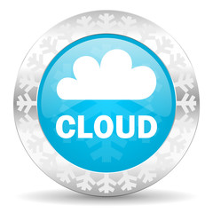cloud icon, christmas button