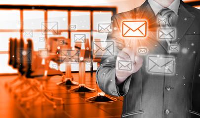 Businessman email concept