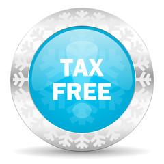tax free icon, christmas button
