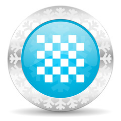 chess icon, christmas button