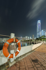 Hong Kong Harbor at night