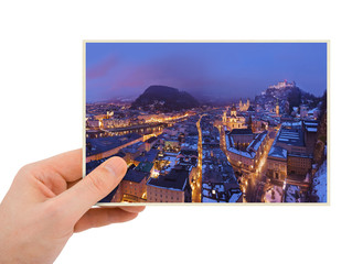 Salzburg Austria photography in hand