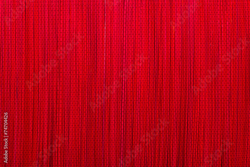 Fototapeta Red bamboo mat texture or background