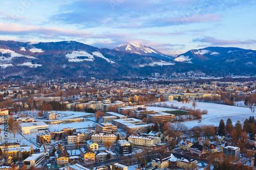Foto op Canvas Salzburg Austria at sunset