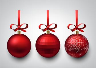 Red christmas balls.