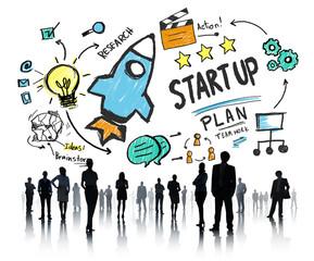Start Up Business Launch Success Business Aspiration Concept