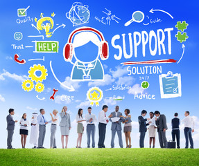 Support Solution Help Care Satisfaction Concept