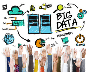 Diversity People Big Data Support Teamwork Concept