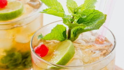 Cuban Mojito or Mint Julep coctail