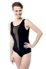 Preet woman in monokini swimsuit
