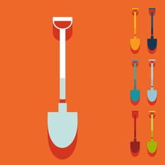 Flat design: shovel