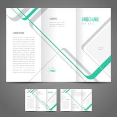 brochure design template stripes