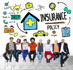 Diversity Casual People Insurance Policy Teamwork Support Concep