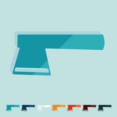 Flat design: axe