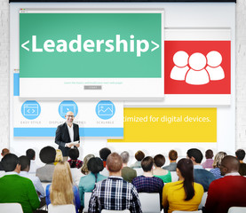 Leadership Management Leader Authority Seminar Concept