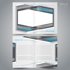 brochure design template - booklet catalog metal silver