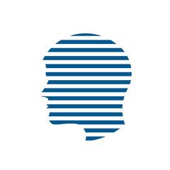 Man Head stripes logo