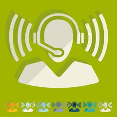 Flat design: call center
