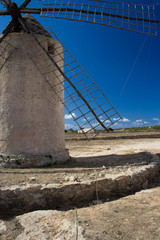 antique windmill on formentera