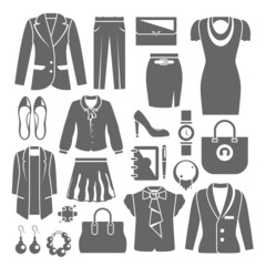 Businesswoman Clothes Set