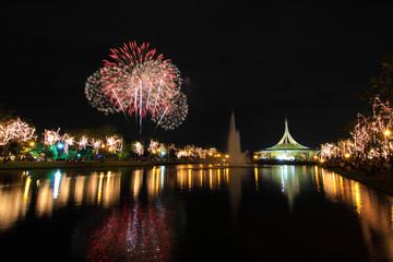Fireworks at the lake