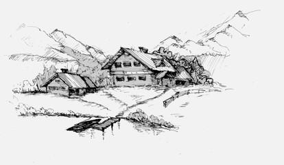 альпийский хутор