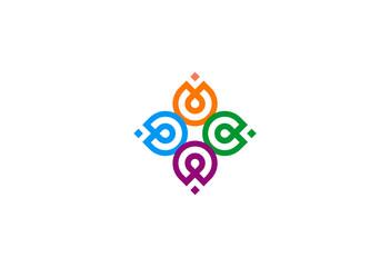 ornament-geometry-circle-vector-logo