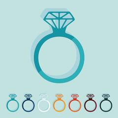 Flat design: ring