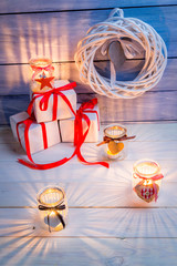 Candles and gifts for Christmas