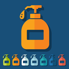 Flat design: liquid soap