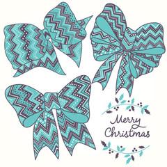 Christmas bows set