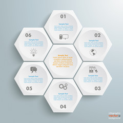 6 White Hexagons Cylce
